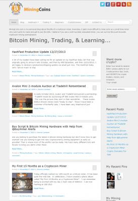 mining coins screenshot