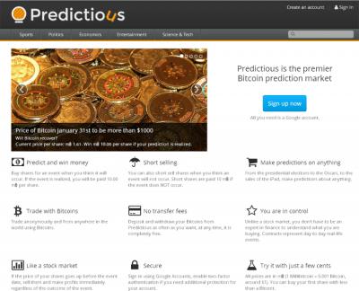 predictious prediction gambling website review