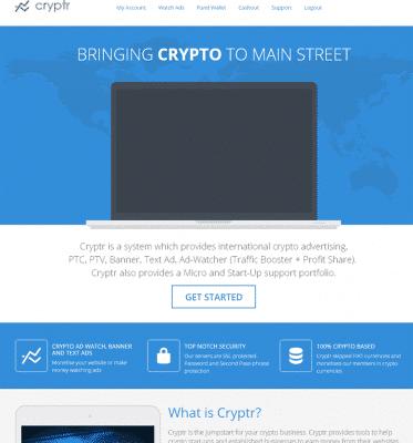 cryptr review - bitcoin advertising