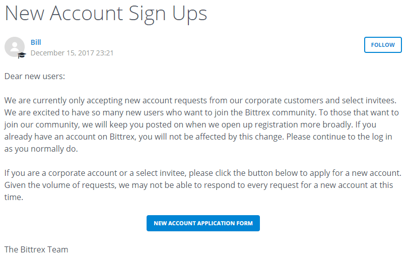 signups closed