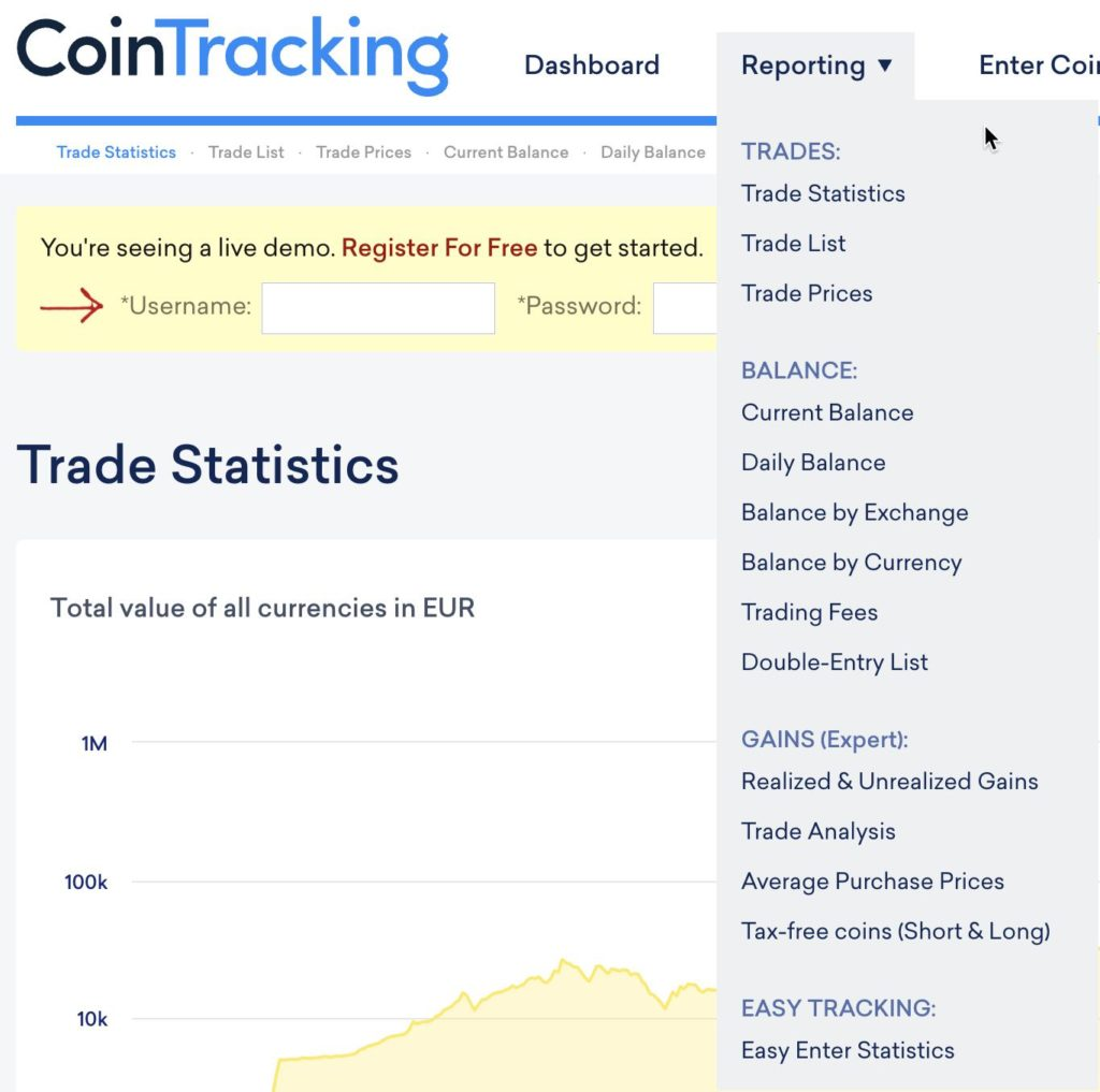 cointracking reporting