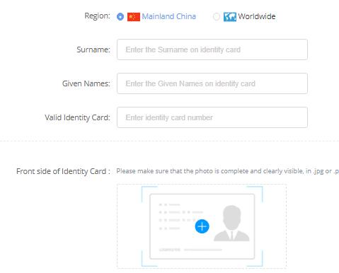 register personal details