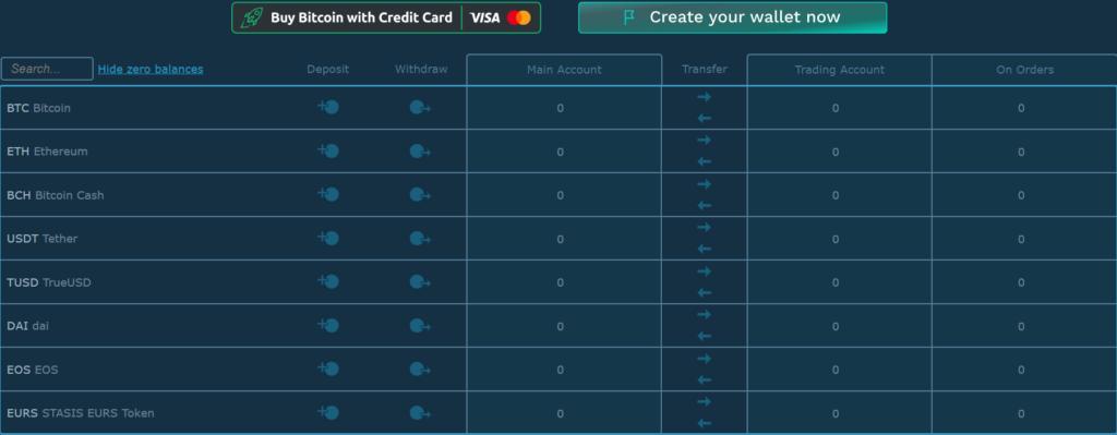 Deposit-Withdrawal Screen