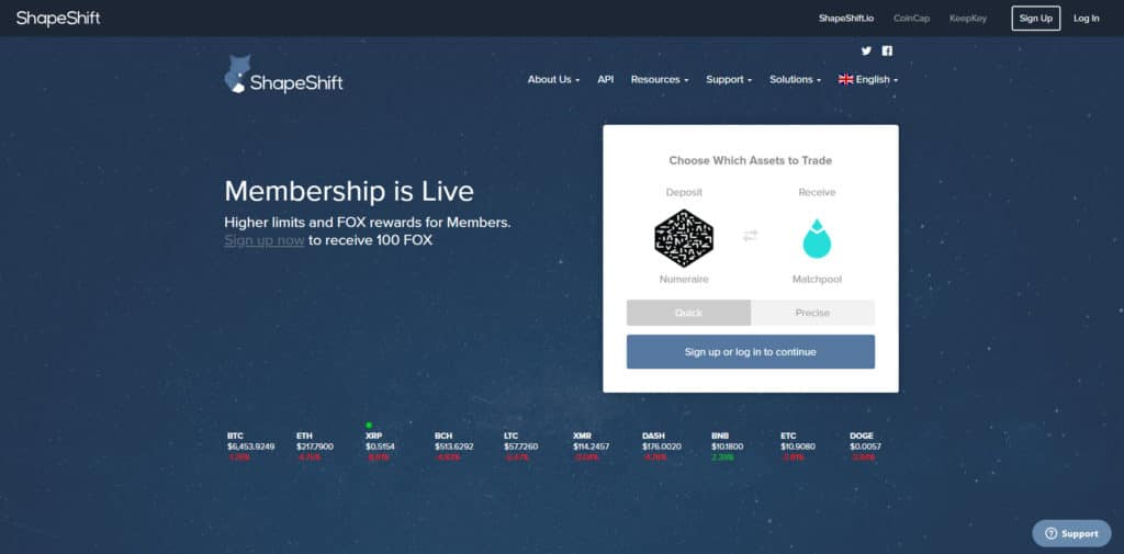 shapeshift review homepage